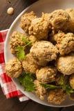 Fried Mushrooms profond fait maison Image libre de droits