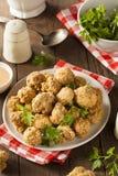 Fried Mushrooms profond fait maison Images libres de droits