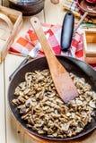 Fried mushrooms. Royalty Free Stock Photos