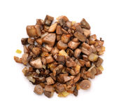 Fried mushrooms stock photography