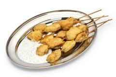 Fried mussels, midye tava, turkish food Stock Photography