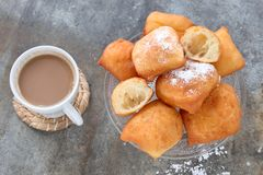 Fried New Orleans Beignets image libre de droits