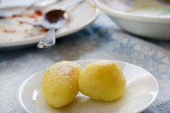 Fried new potatoes Royalty Free Stock Photos