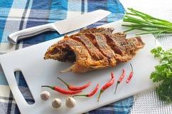 Fried nile tilapia Royalty Free Stock Photo