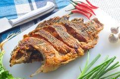 Fried nile tilapia Stock Photo