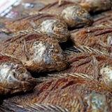 Fried nile tilapia or oreochromis nilotica fish Stock Photos