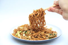 fried noodels is asian food Royalty Free Stock Photography