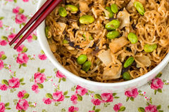 Fried noodle asian food Stock Image