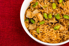 Fried noodle asian food Stock Images