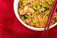 Fried noodle asian food Royalty Free Stock Photos