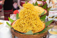Fried noodle called Kao soi Royalty Free Stock Photo