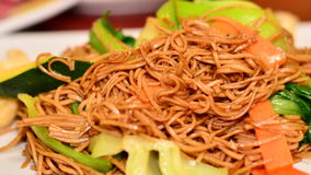 Fried noodle dish Royalty Free Stock Photos