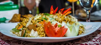 Tantalizing fried noodle, asian cuisine Stock Photography