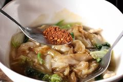 Fried noodle and gravy Stock Images
