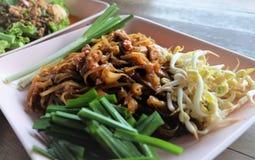 Fried Noodle Korat Thailand Fotografering för Bildbyråer