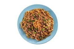 Fried noodle with minced pork Royalty Free Stock Photos