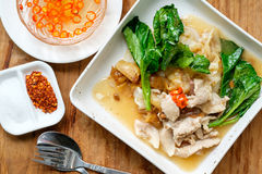 Fried noodle with pork Royalty Free Stock Images
