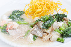 Fried noodle with pork and seafood Royalty Free Stock Photography