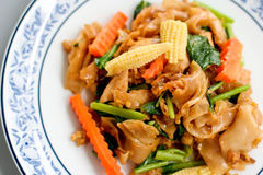 Fried noodle with pork. And vegetable Stock Photo