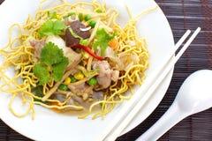 Fried Noodle profundo chino foto de archivo libre de regalías