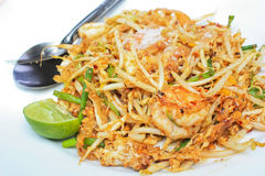 Fried noodle with shrimp Royalty Free Stock Image