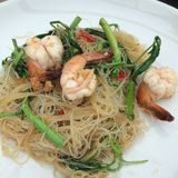 Fried noodle with shrimp Royalty Free Stock Images