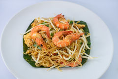 Fried noodle with shrimps Stock Photography