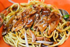 Fried Noodle with soya sauce Stock Photos