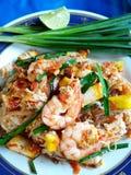Fried Noodle tailandês com camarão Fotos de Stock