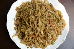 Fried noodles, asian style Stock Images