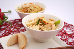 Fried noodles with chicken Royalty Free Stock Photography