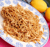 Fried noodles with chicken Stock Photos