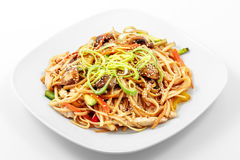 Fried noodles in Chinese Stock Images