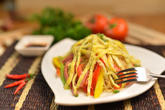 Fried noodles Stock Photography
