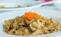 Fried noodles with crabmeat and shrimp roe Stock Photo