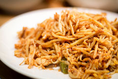 Fried noodles are delicious and healthy dish Royalty Free Stock Photography