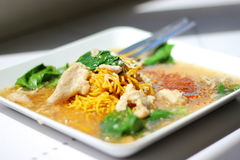 Fried noodles Stock Images