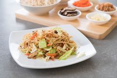 fried noodles on plate Royalty Free Stock Photography