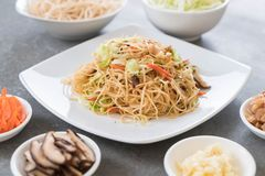 fried noodles on plate Stock Image