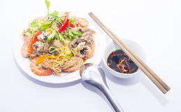 Fried noodles Royalty Free Stock Photography