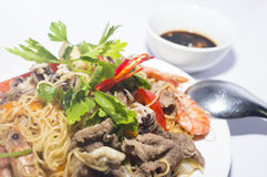 Fried noodles Royalty Free Stock Image
