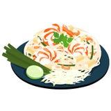 Fried noodles popular thai food  Stock Images