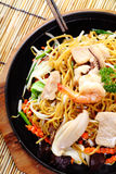 Fried noodles with Seafood Stock Photography