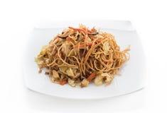 fried noodles with shrimp Stock Image
