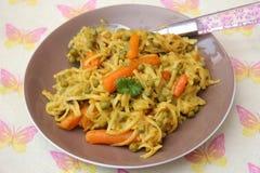 Fried noodles Stock Image