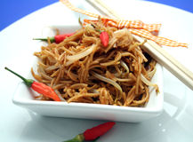 Fried noodles Stock Image