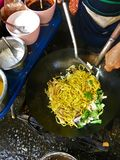 Fried noodles in vegetarian festival royalty free stock images