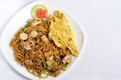 Fried noodles Stock Images