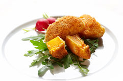 Fried nuggets Stock Image