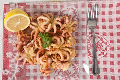 Fried Octopus Royalty Free Stock Photography